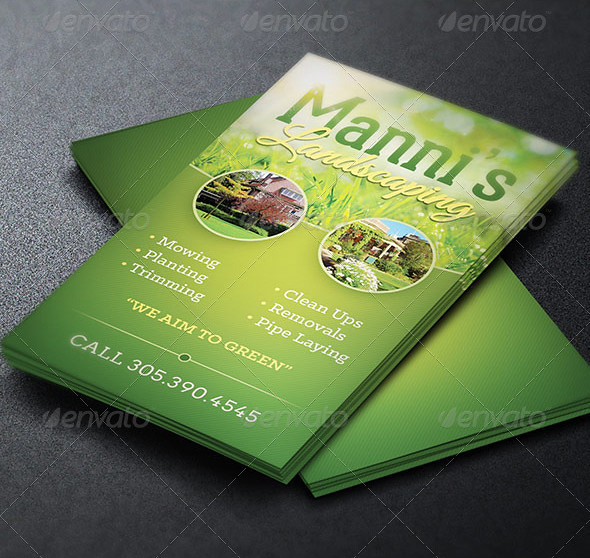 Landscaping Business Card Template The Landscaping Busines Flickr