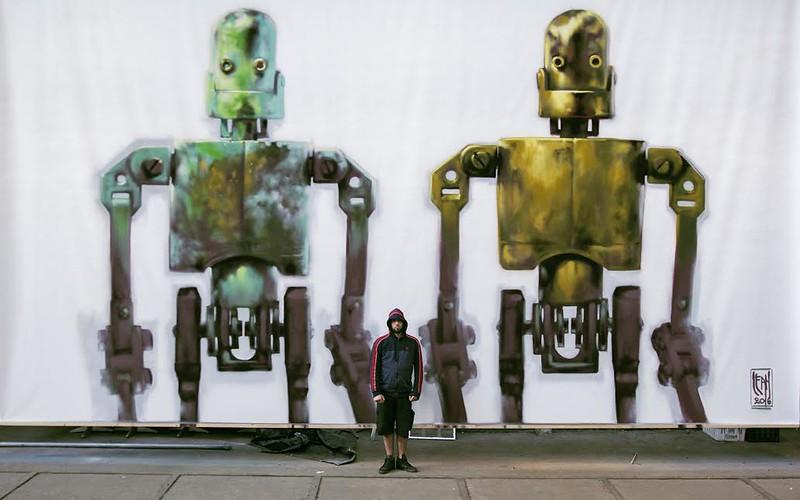 LEAN FRIZZERA. DOS GIUSEPPES DYNAMO. MUSEO DE STREET ART , AMSTERDAM ,HOLANDA.