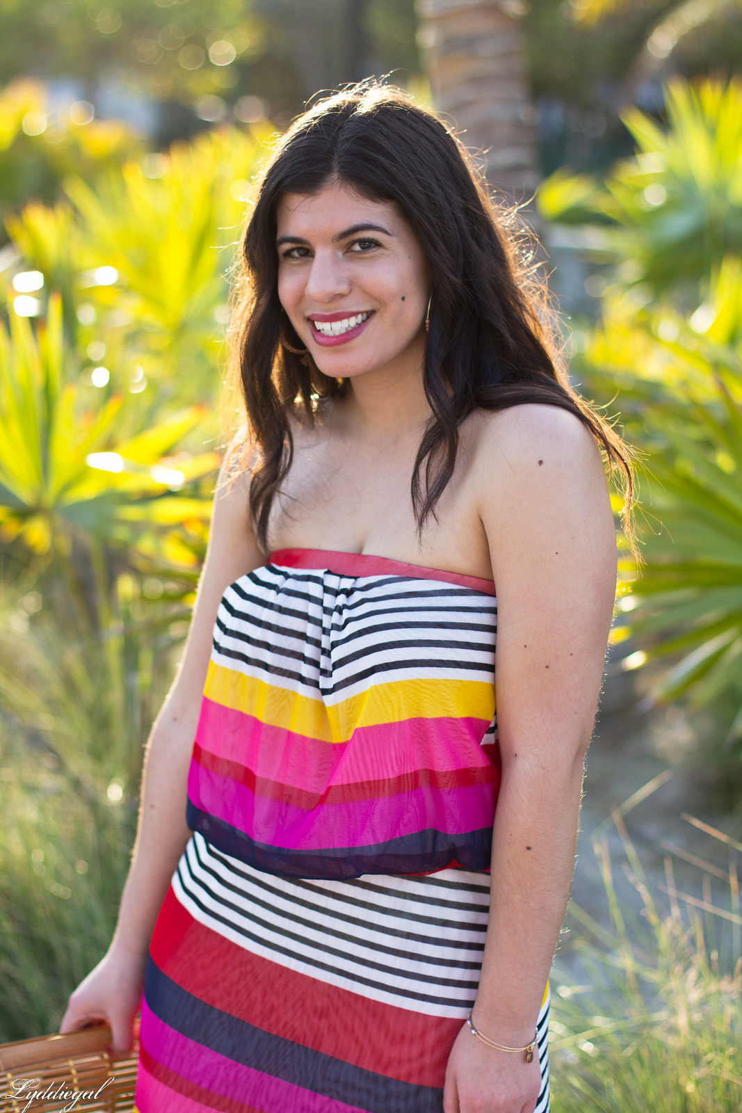 pink striped maxi dress, bamboo half moon bag, beach outfit-8.jpg