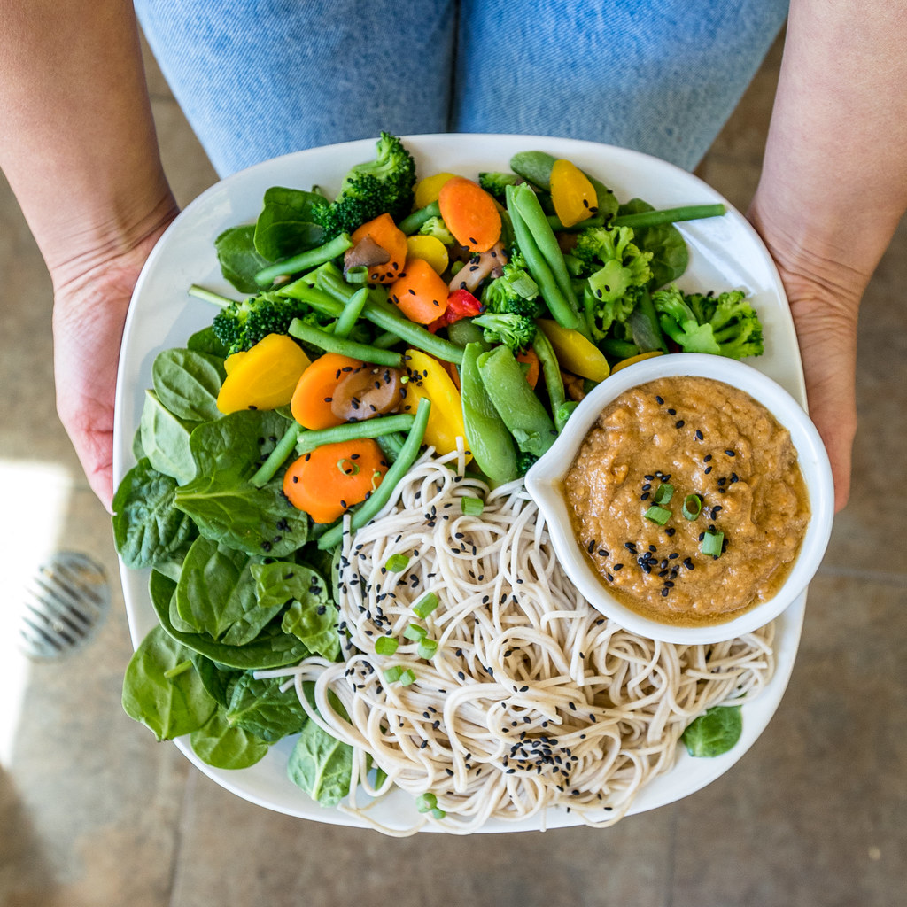 Soba Noodle Salad w/ Easy Peanut Sauce | What A Vegan Couple Eats In Day + Recipes! sweetsimplevegan.com #vegan #recipes #vegancouple #whatveganseat