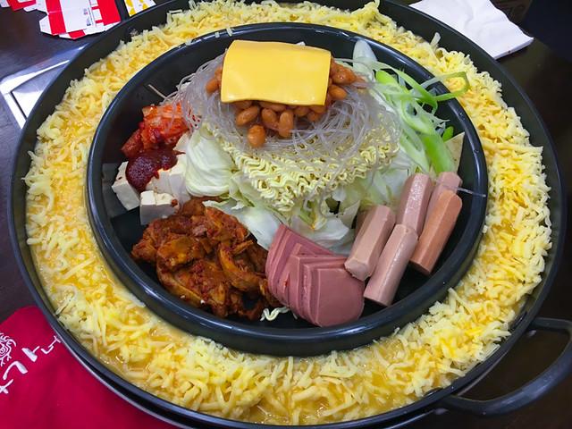 Yoogane Dak Galbi 1 Utama - Army Stew with Cheese Ring and Egg Wash - Before