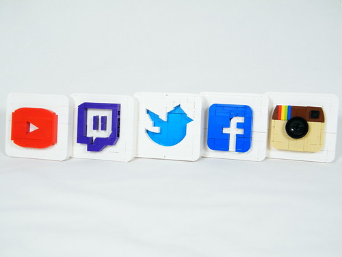 Social Media Logos | by BrickinNick