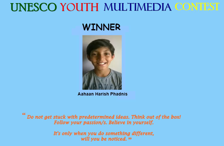 UNESCO Youth Multimedia Contest Winner