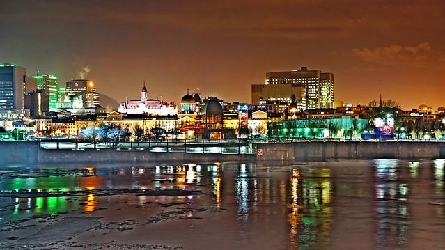Montréal's night colors