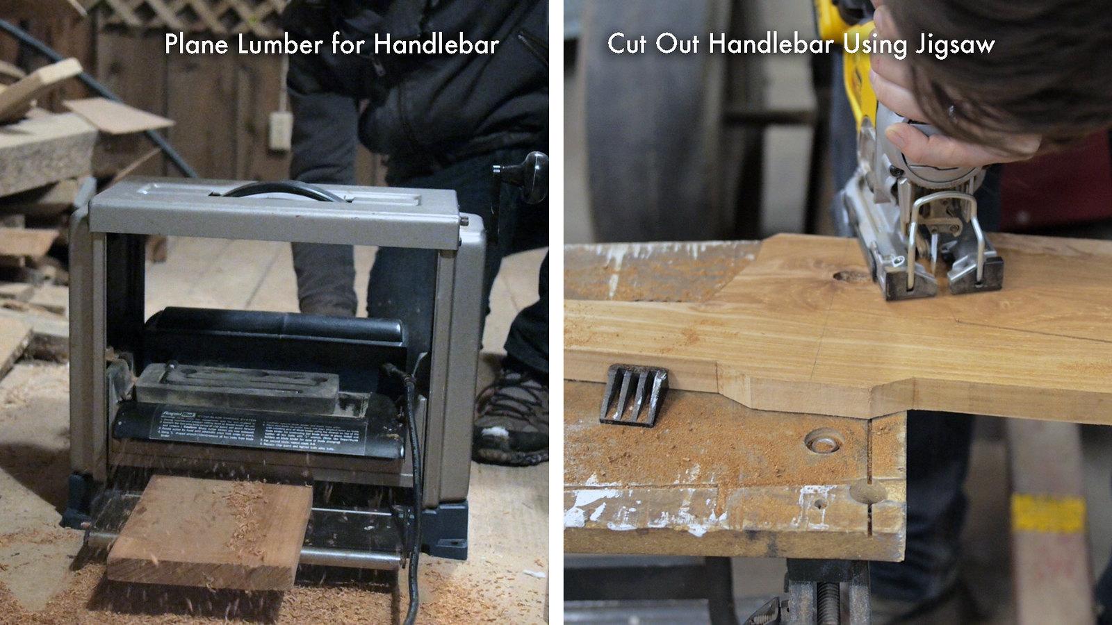 Cut Wood for Handebar