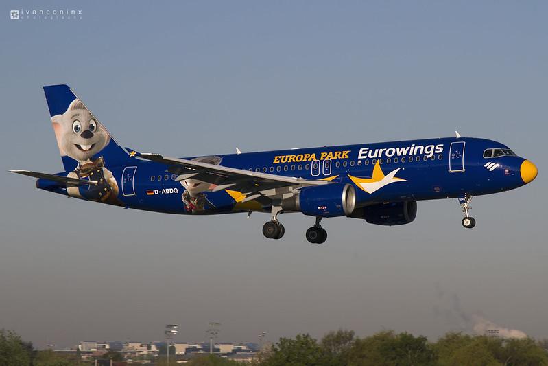 Airbus A320-214 – Eurowings (Air Berlin) – D-ABDQ – Brussels Airport (BRU EBBR) – 2017 04 19 – Landing RWY 01 – 01 – Copyright © 2017 Ivan Coninx