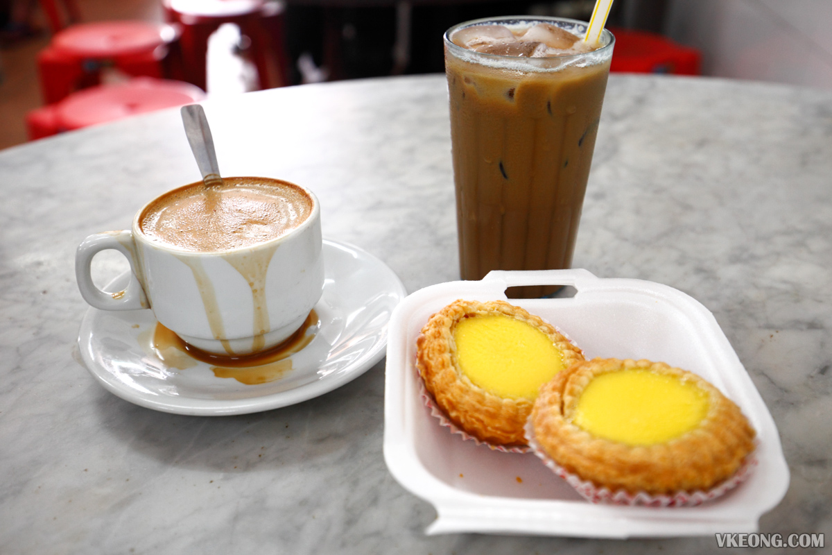 Nam Heong Egg Tart with White Coffee