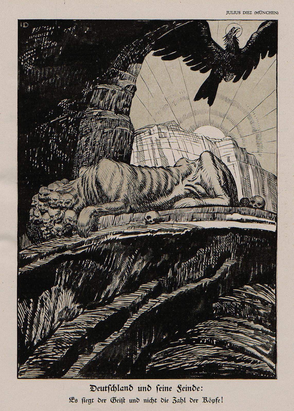 Julius Diez - Germany and It's Fiend, 1914