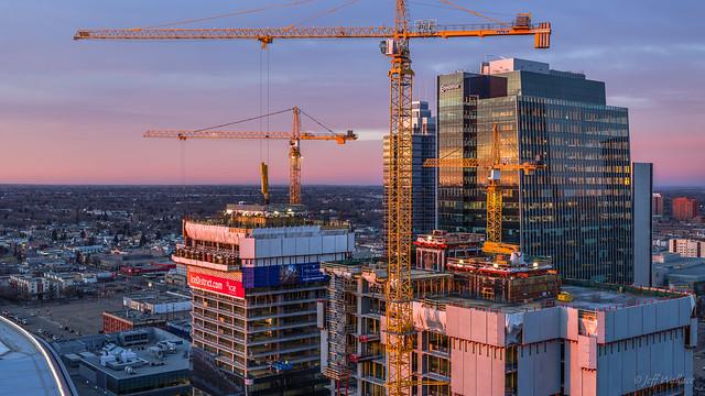 Cranes, Edmonton, Alberta