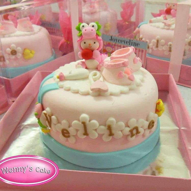 One Month Baby Celebration Cake Babycake Edible Wennys Flickr