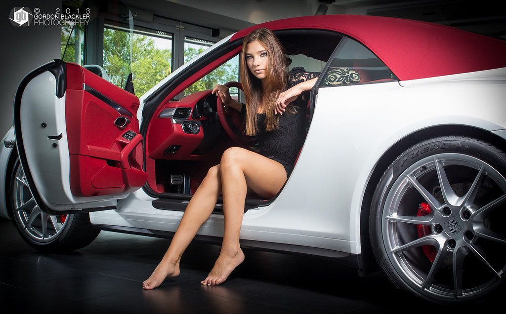 Glamour Shoot At Porsche 1 Model Ania S Make Up
