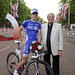 Classic race winner Arnaud Demare with David Hodge