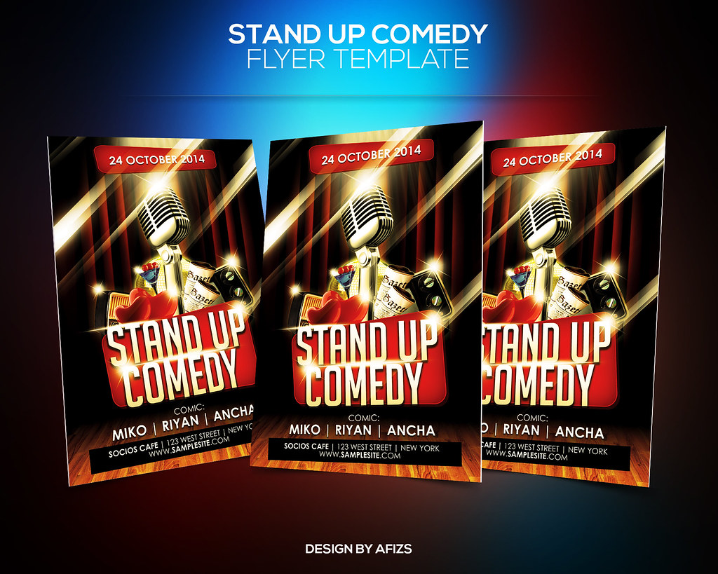 Standup Comedy Flyer Download Psd File Here Graphicriver Flickr