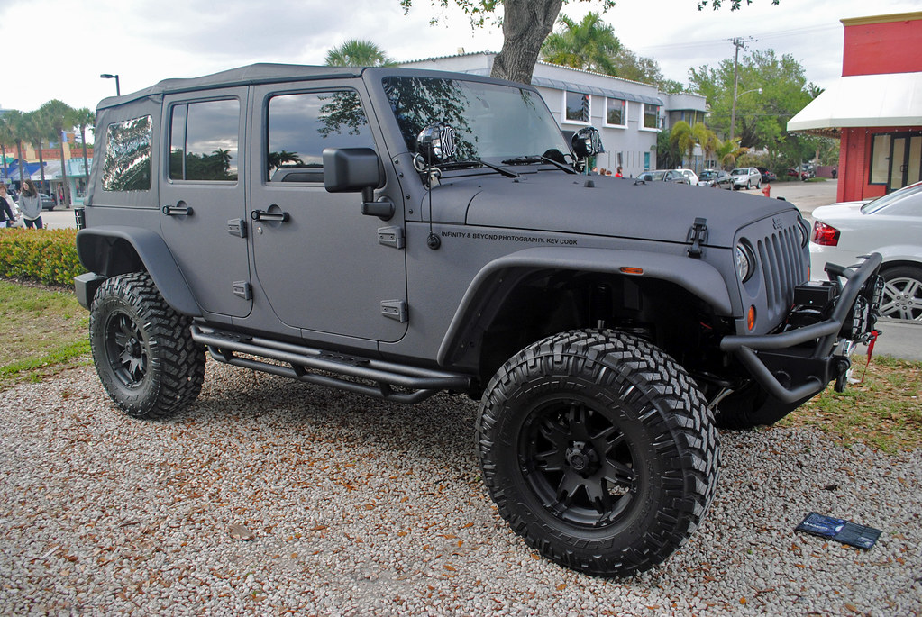 Matte Army Green Jeep Wrangler >> Matte Grey Vinyl Wrapped Jeep Wrangler | Kev Cook | Flickr