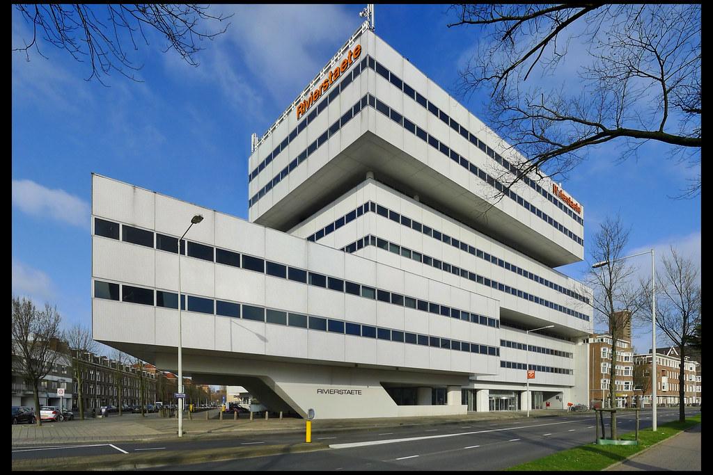 Amsterdam kantoorgebouw rivierstaete 07 1973 maaskant ha for B b amsterdam