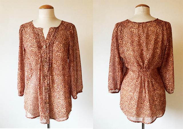 Butterick 5861 gold blouse