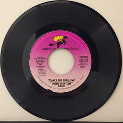 INNER CITY JAM BAND:WHAT I DID FOR LOVE(RECORD SIDE-A)