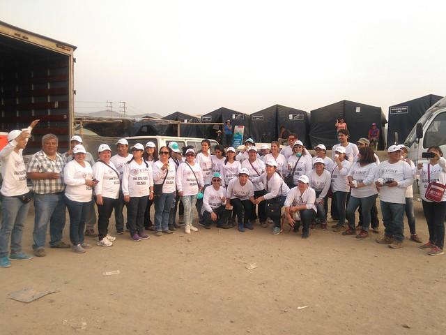 Universidad de San Martín de Porres llevó importante donación a los damnificados de la zona de Carapongo – Lurigancho