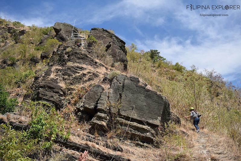 Rock climbing up Bantay Abot Hills