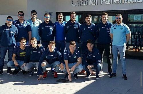 El equipo nazareno del Waterpolo Dos Hermanas en Madrid