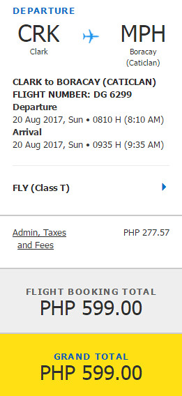 Cebu Pacific Caticlan Promo August 20, 2017