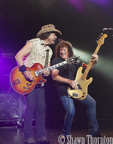 Ted Nugent and Greg Smith performing in 2014 at DTE Energy Music Theatre