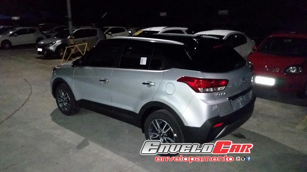 Creta 2017 White >> Hyundai Creta envelopamento teto com a vinil auto adesivo ...