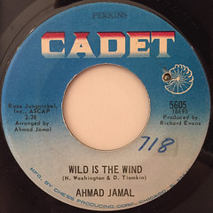 AHAMD JAMAL:WILD IS THE WIND(LABEL SIDE-A)