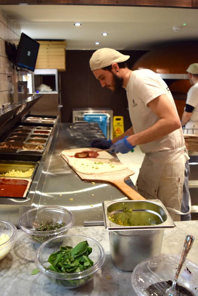 Making Pizza at Firezza, Soho | www.rachelphipps.com @rachelphipps