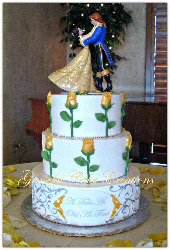 beauty and the beast wedding cake decorations and the beast themed wedding cake grace tari flickr 11248