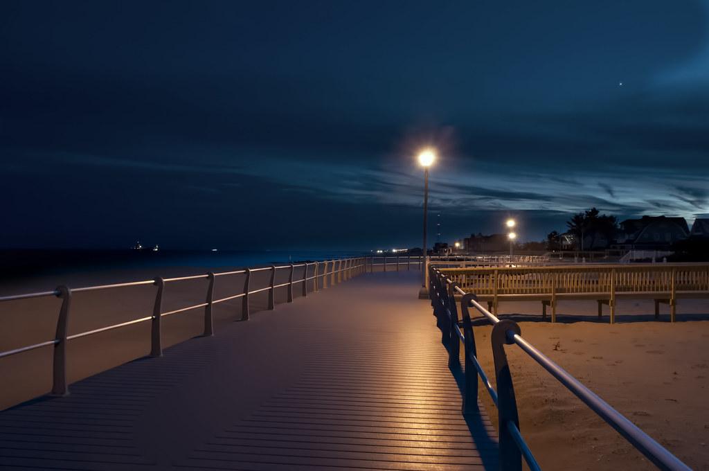 Sea Girt Boardwalk At Night I Think That Is Venus In The U Flickr