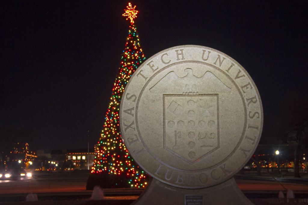 texas tech university seal with christmas tree by markromero - Texas Tech Christmas Decorations
