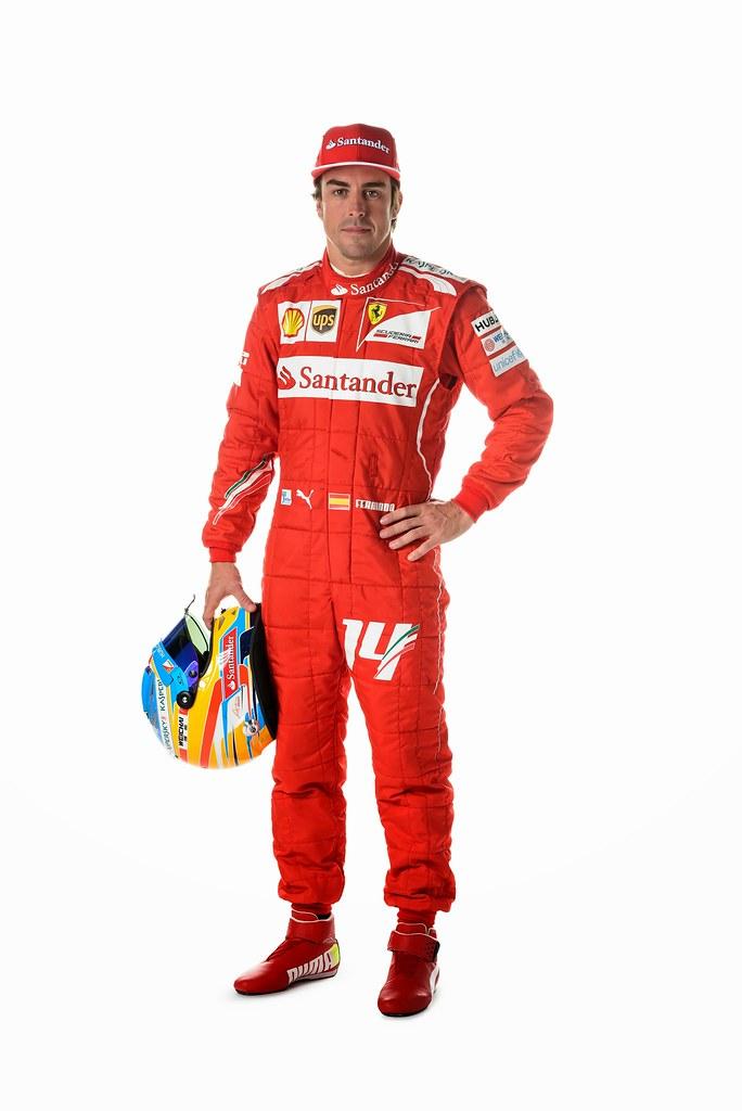 Fernando Alonso Ferrari 2014 Portrait Fernando Alonso
