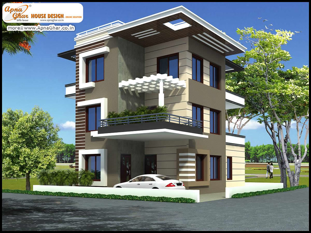 Triplex house design triplex house design in 192m2 12m for House garden design india