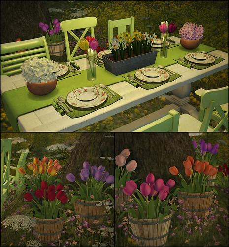 Garden Party Collage