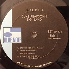 DUKE PEARSON:INTRODUCING DUKE PEARSON'S BIG BAND(LABEL SIDE-A)