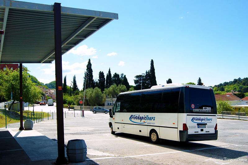Автобус на автобусной станции Петроваца