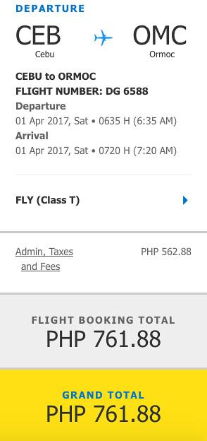 Cebu Pacific Air Sale Cebu to Ormoc