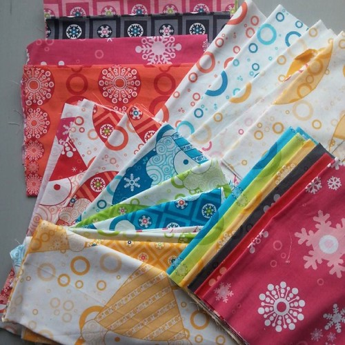 The other project I need background for is this lovely collection of Winterkist. I'm going to make a version of @sleepinsarah's Stained quilt (swipe to see the two I've already made) and am trying to decide on a colour for the sashing - any suggestions?
