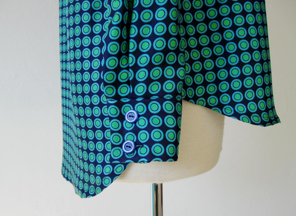 silk twill shirt sleeve cuff