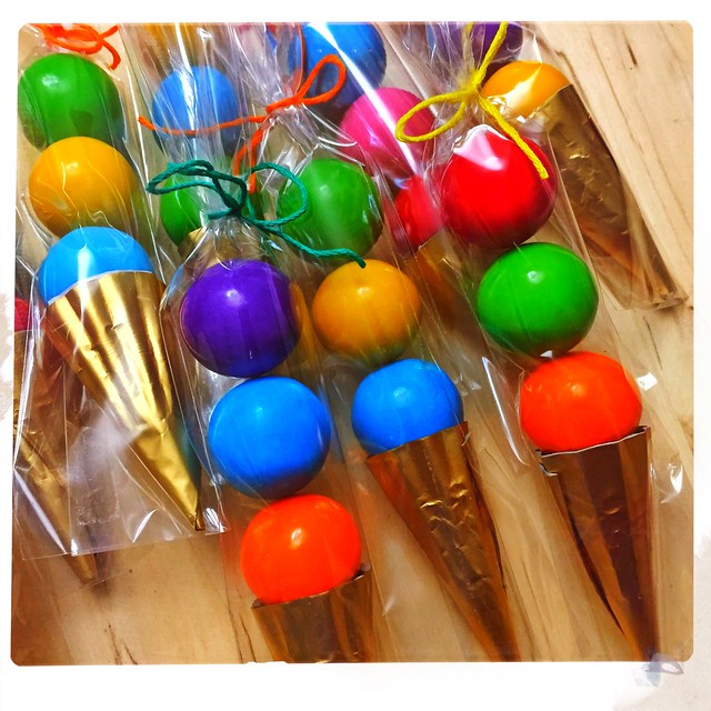 Gumball Ice Cream Cone Party Favors
