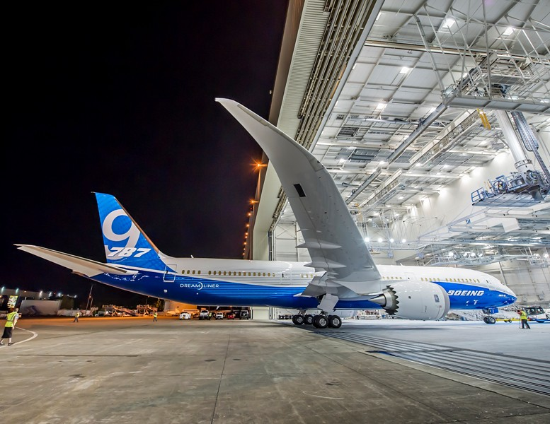 First 787-9 Unveiled with New Livery