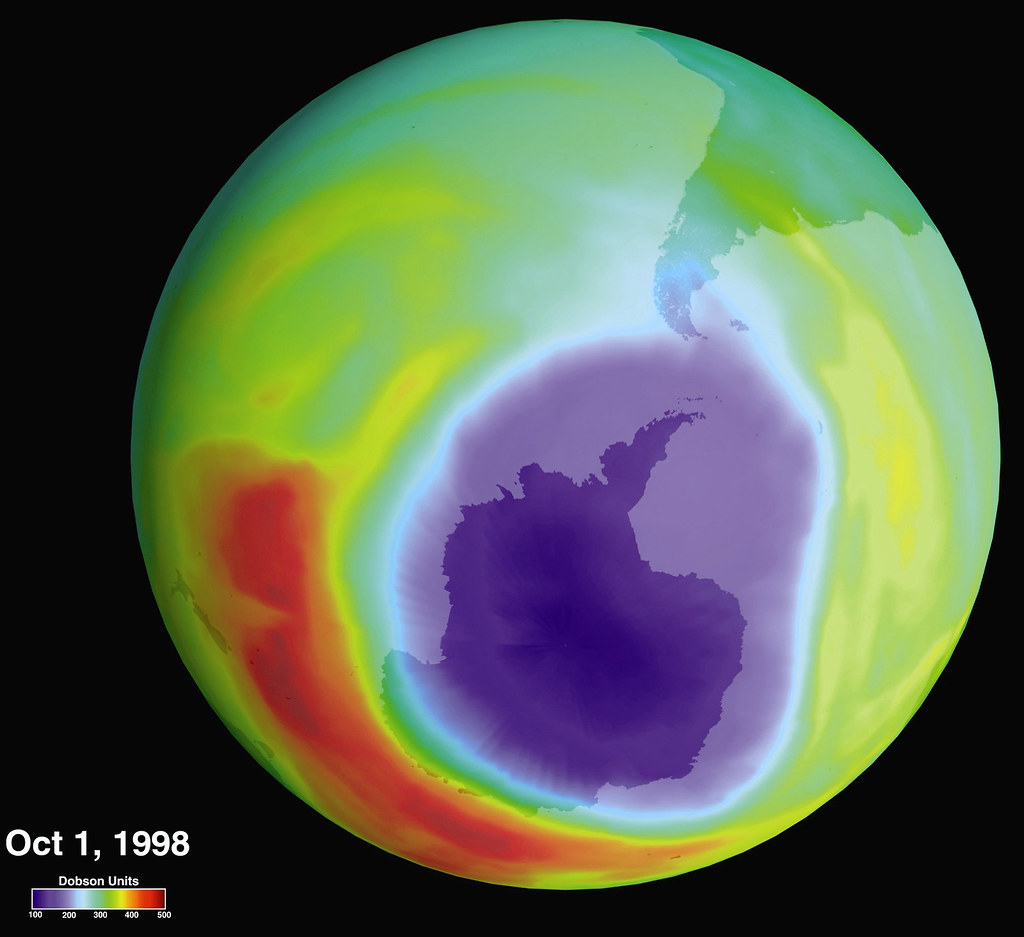 Hole in the ozone layer over antarctica in 1985 a british flickr hole in the ozone layer over antarctica by nasa on the commons gumiabroncs Gallery