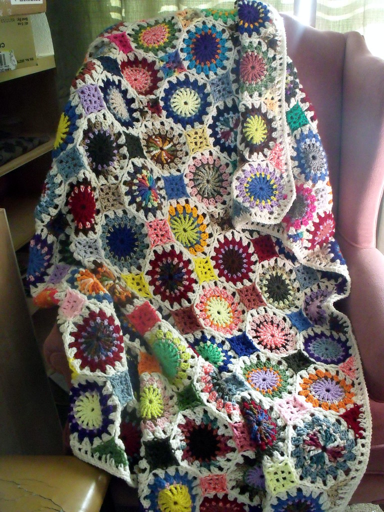 Crochet Scrap Afghan | This is an afghan I started months ag… | Flickr