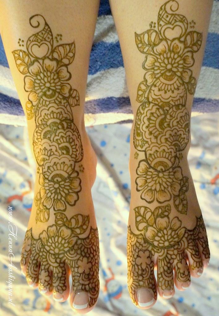 131010 Parvita Bhoelai Bruidshenna Bridal Mehndi Feet Desi Flickr