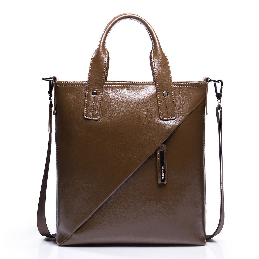 Jobs Handväska : M?rkbrunt l?der med dubbla anv?ndningsomr?den paket flickr