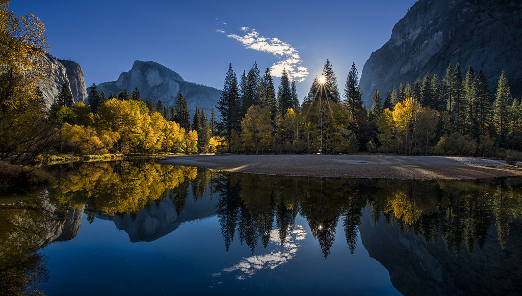 autumn sunrise in yosemite