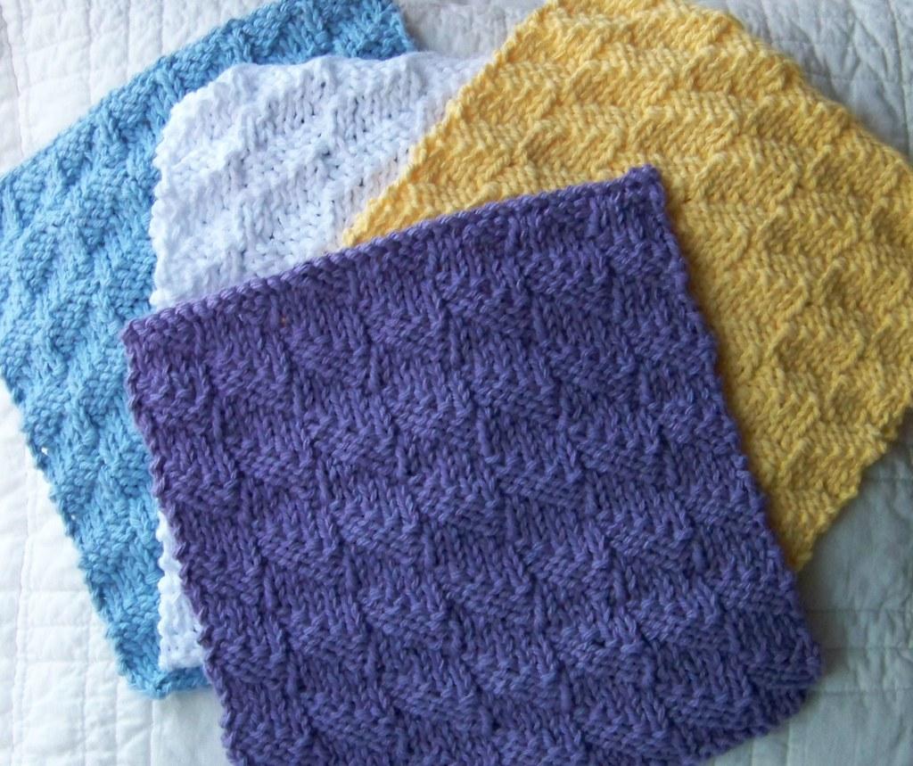 laws_of_knitting_dishcloth_diagonal_stich | Kitchen Dishclot… | Flickr