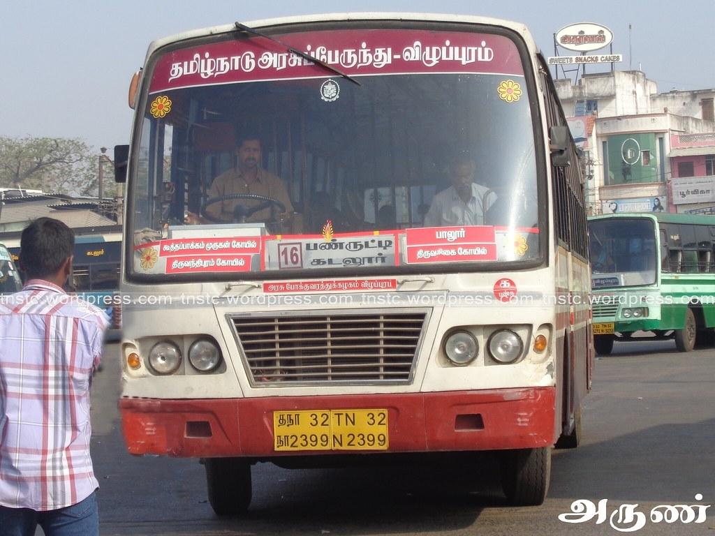 ... TN-32N-2399 of Panruti Depot Route 16 Panruti - Cuddalore via Paloor,