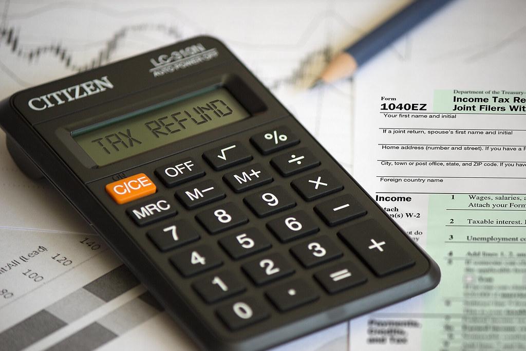 Tax Refund Chart: Tax Refund - Written on a calculator | A calculator calculatu2026 | Flickr,Chart